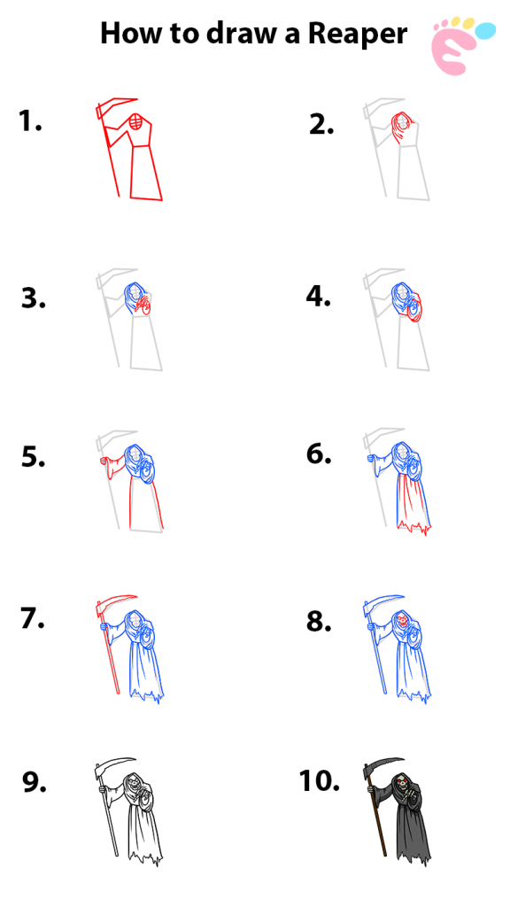 Learn easy to draw how to draw a reaper drawing step 00 576x1024