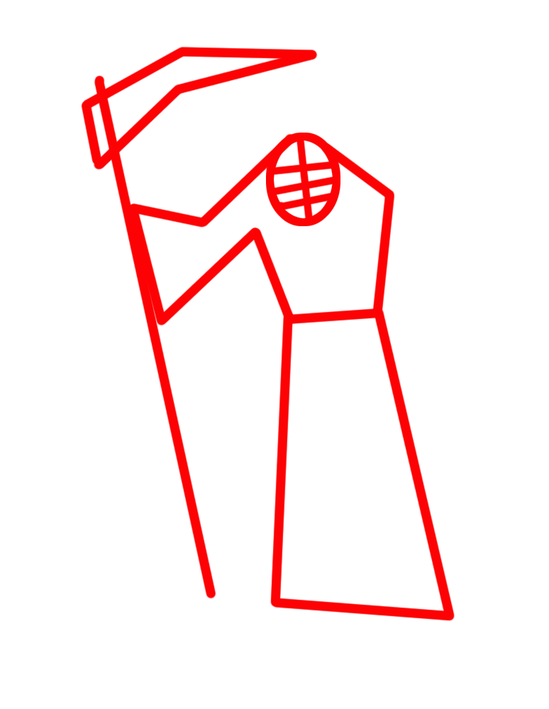 Learn easy to draw how to draw a reaper drawing step 01