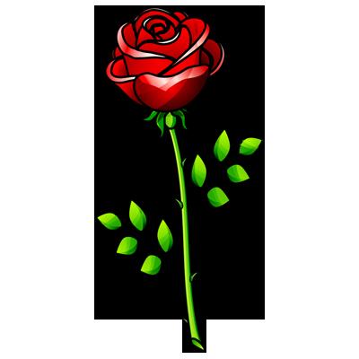 Rose line drawing