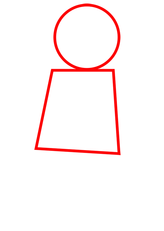 Learn easy to draw how to draw lego running drawing step 01