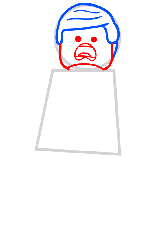 Learn easy to draw how to draw lego running drawing step 03