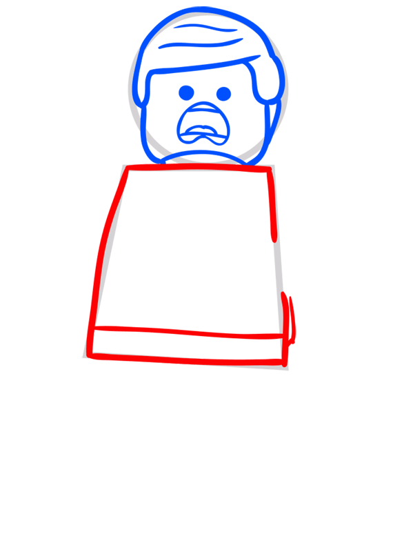 Learn easy to draw how to draw lego running drawing step 04