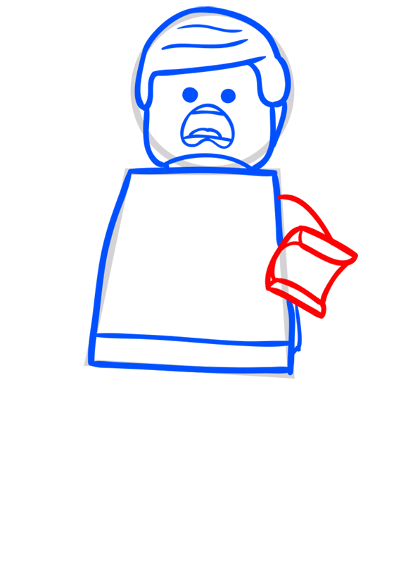 Learn easy to draw how to draw lego running drawing step 05