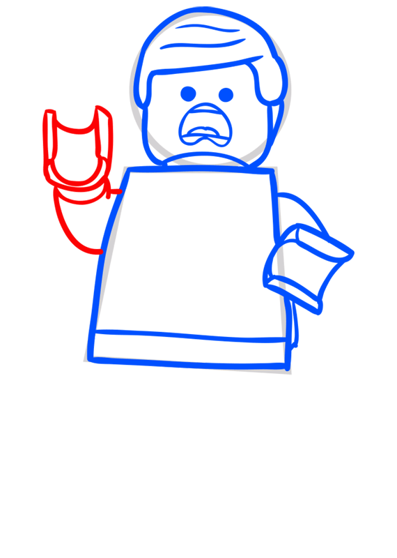 Learn easy to draw how to draw lego running drawing step 06