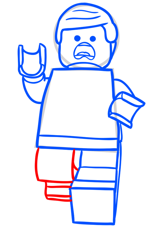 Learn easy to draw how to draw lego running drawing step 08