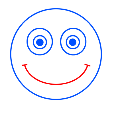 Learn easy to draw how to draw a face smile drawing step 04
