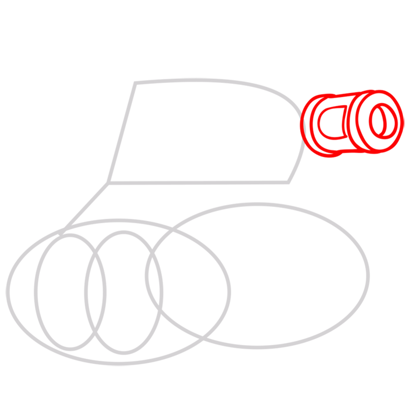 Learn easy to draw how to draw a tank drawing step 02