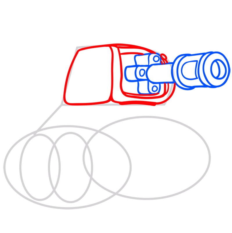 Learn easy to draw how to draw a tank drawing step 04