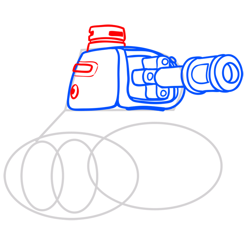 Learn easy to draw how to draw a tank drawing step 05