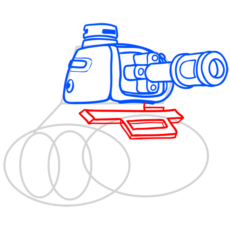 Learn easy to draw how to draw a tank drawing step 06