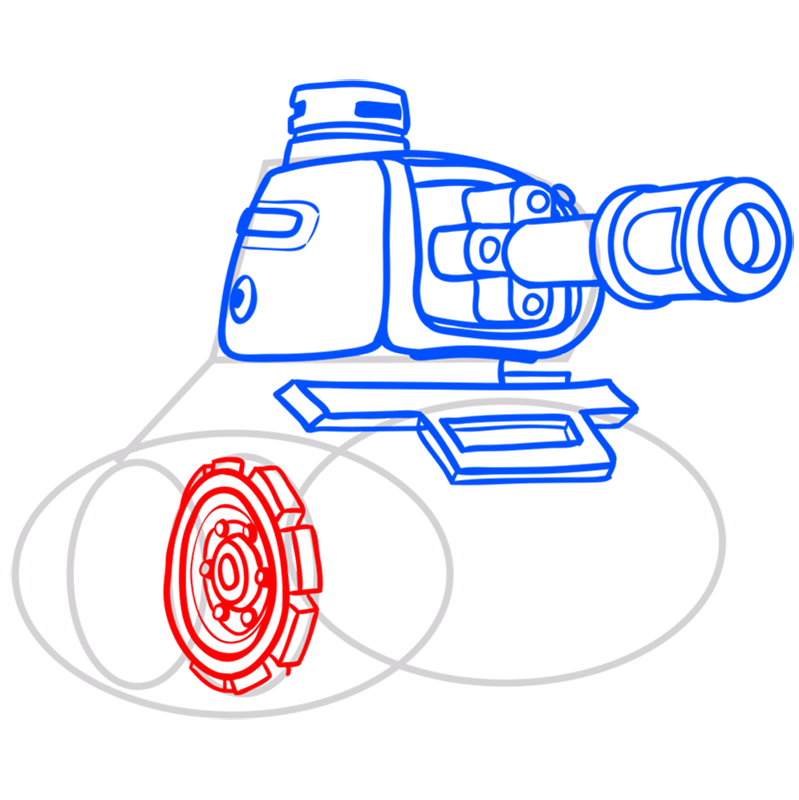 Learn easy to draw how to draw a tank drawing step 07
