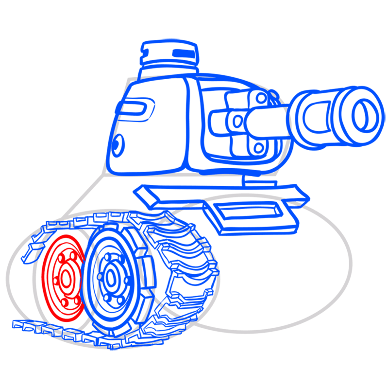 Learn easy to draw how to draw a tank drawing step 10