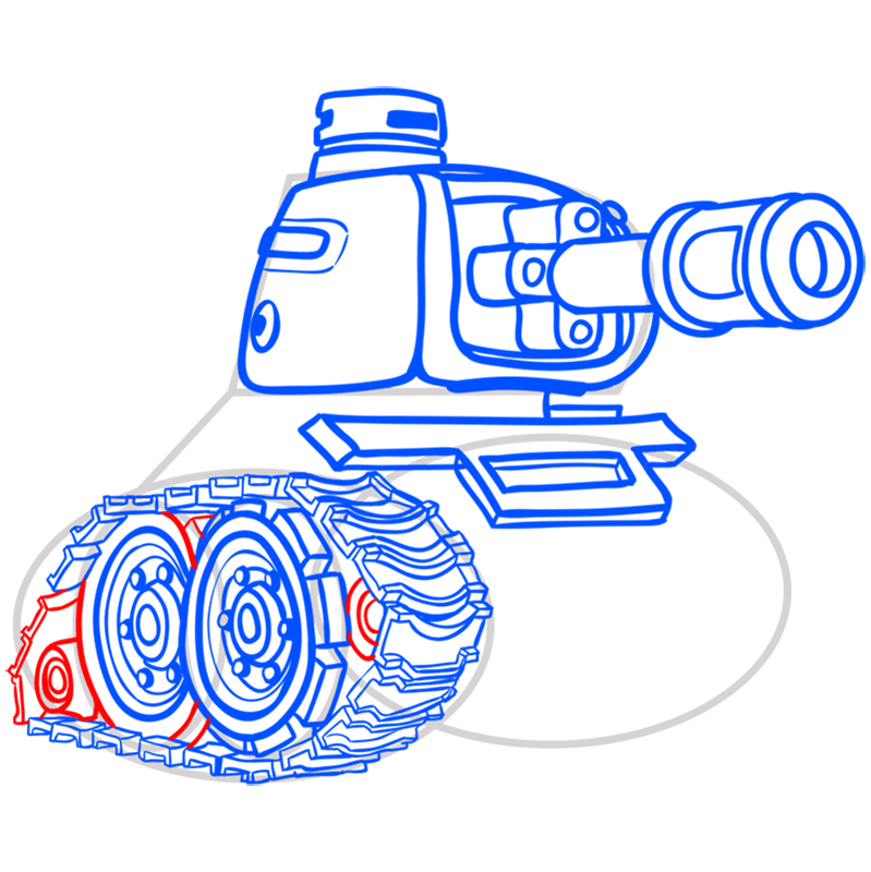 Learn easy to draw how to draw a tank drawing step 11