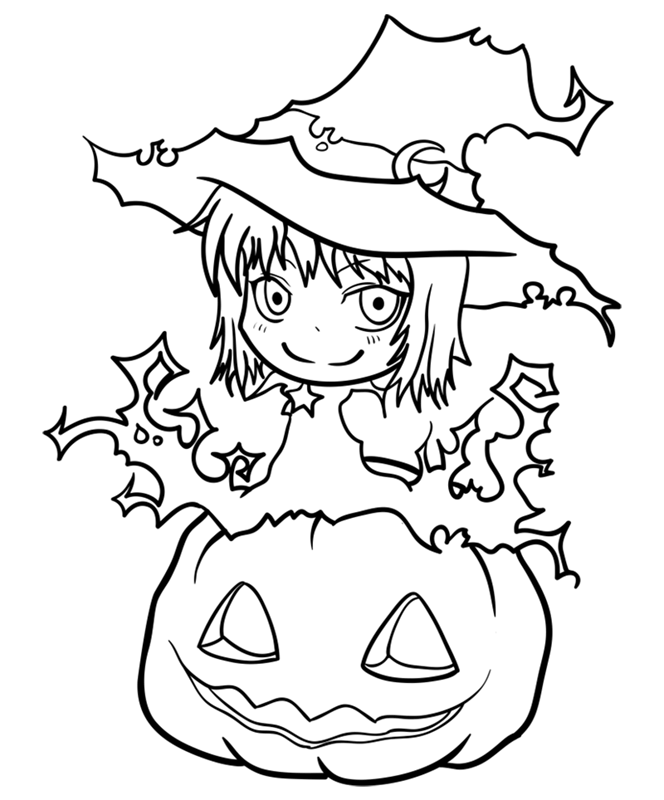 Learn easy to draw how to draw a witch drawing step 11