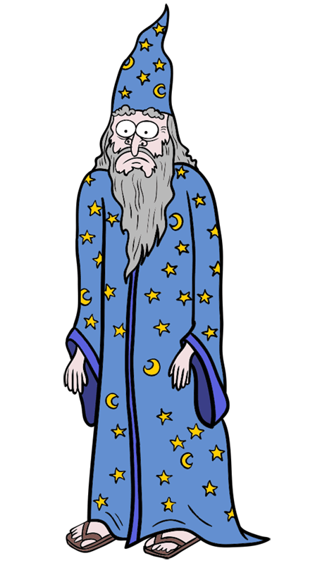 Learn easy to draw how to draw a wizard drawing step 13